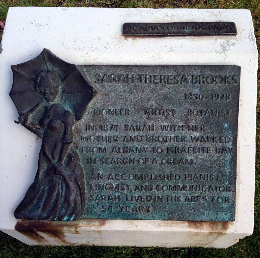 Sarah Theresa Brooks plaque