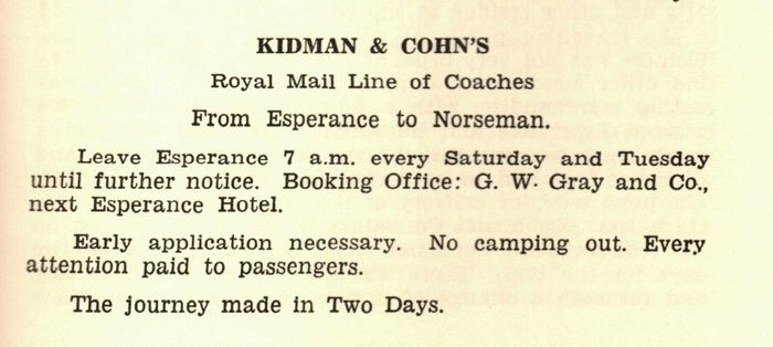 GW Gray & Co- Booking Office for Kidman & Cohns