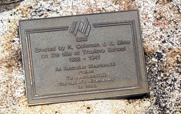 Mallee School Trail - truslove_school_bicentenary_plaque