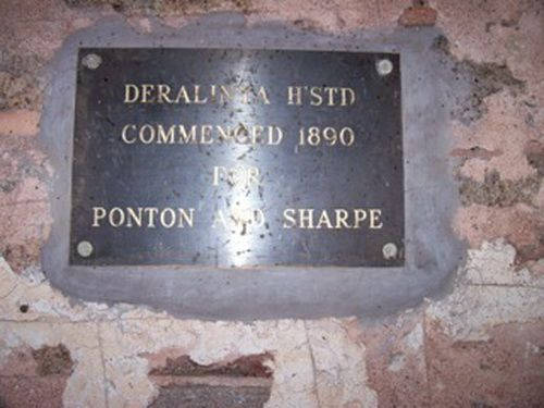 Deralinya Homestead Plaque